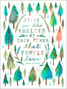 Shelter of Each Other by Katie Daisy Wall Decal