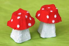 champignons http://www.cabaneaidees.com/2014/07/champignons-tout-rouges/