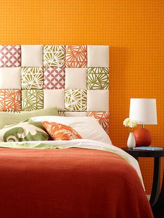 The Bride's Diary - DIY: Patchwork Headboard