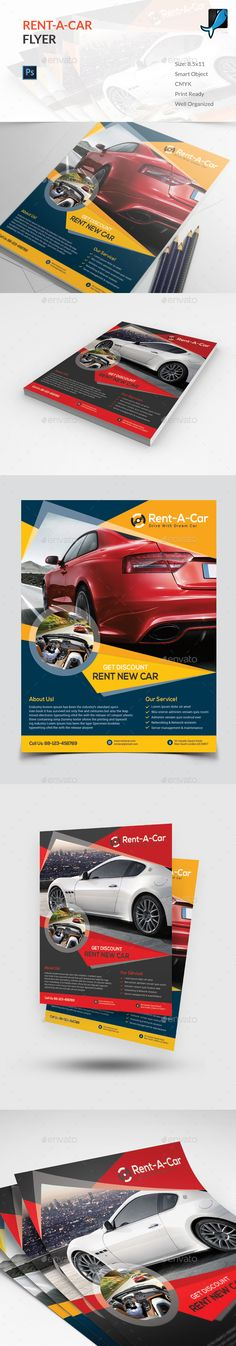 Rent A Car Flyer Template PSD. Download here: http://graphicriver.net/item/rent-a-car-flyer/16068895?ref=ksioks