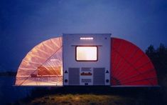 """This creatively designed camper was originally called """"De Markies"""" (The Awning). It's built to expand it's living space by up to converting from a simple trailer into a tiny house with two bedrooms, a living room, and a kitchen. Outdoor Camping, Outdoor Gear, Camping Ideas, Zelt Camping, Travel Camper, Home By, Little Campers, Mobile Living, Sleeping Under The Stars"""