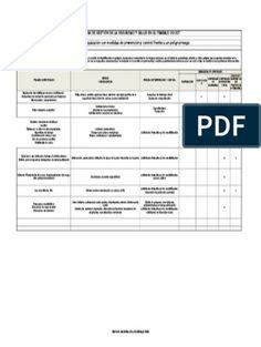 Matriz de Jerarquizacion Con Medidas de Prevencion y Control Frente a Un Peligro Riesgo | Virus | Factores humanos y ergonomía Control, Pdf, World, Factors, Social Networks, Reading