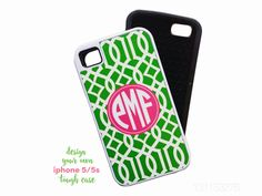 New to TheMonogramLine on Etsy: monogram iphone 5 5s tough case  personalized  design your own (22.50 USD)