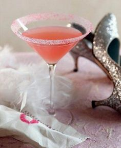 ✮ Bubble Gum Martini ✮  2 ounces Three Olives brand bubblegum vodka… 1 ounce peach schnapps…2ounce pineapple juice… splash of grenadine… pink sugar for rim /// Rim glass with pink sugar. Put 5 cubes of ice in shaker, add all ingredients, shake well and pour.