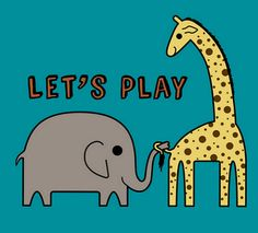 Elephant and Giraffe, what's not to love?