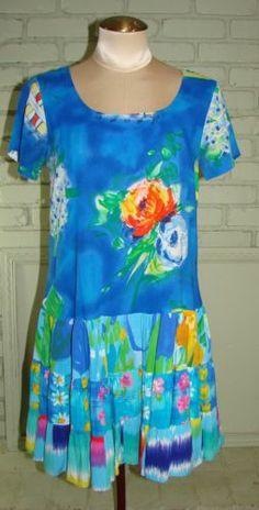 Jams World Bluedrangea Hattie Dress XS blue label 36 Bust
