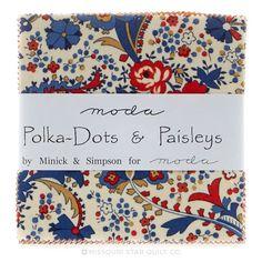 Polka Dots & Paisleys Charm Pack - Minick & Simpson - Moda Fabrics
