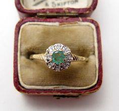 1930s Diamond & Emerald Ring
