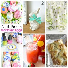 Ioanna's Notebook - Friday Favorites #4 Easter Edition: Nail polish marbled eggs, decoupage bunny, how to fold a bunny napkin, honey strawberry lemonade, greek brioche (tsoureki)