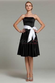 Comprar sencillo vestidos de dama de honor de corte-a en satén elástico tejido de falta de playa de manzana, Modao.es te ofrece Vestidos de Dama de Honor más adecuado