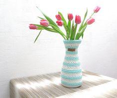 nordic flower spring Vase aus Textilgarn m white von em.do nordic style auf DaWanda.com