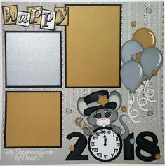 """New Year Layout by DT Debbie using New Years"""" pattern by Cuddly Cute Designs Scrapbook Layout Sketches, Scrapbook Templates, Scrapbooking Layouts, Scrapbook Designs, Birthday Scrapbook, Baby Scrapbook, Scrapbook Paper, Happy New Year Baby, Happy New Year Cards"""