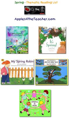 Suggested thematic reading list for Spring - Spring books for kids.