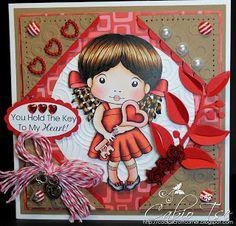 Cabio's Craft Corner: La-La-Land Crafts - Kraft White + 1 other color Heart Key Marci Love Card