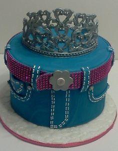 Denim Birthday With Handmade Tiara