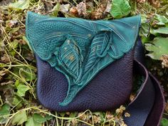 Medium Leather Forest Purse / Bag Pouch Tote by TreadLightGear, $85.00