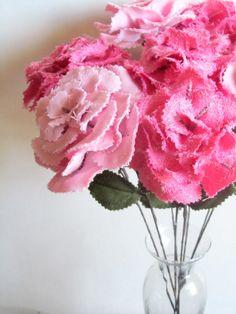 Fabric Flower - pink peony