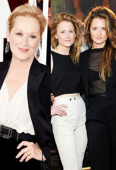 11 Stylish Celebrities Whose Kids Look Just Like Them Las hijas de Meryl Streep, Mamie y Grace Gummer, son las doppelgängers de Streep. Celebrities Then And Now, Beautiful Celebrities, Beautiful People, Steve Mcqueen, Fashion Mode, Look Fashion, Meryl Streep Daughter, Meryl Streep Children, Celebrity Kids