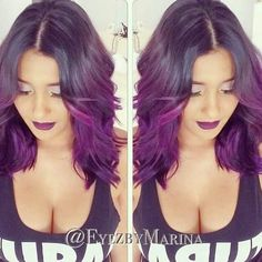 Cheap Purple Ombre Lace Front Wig Wavy Human Hair Ombre Lace Front Wigs Black Women Brazilian Ombre Full Lace Wig With Baby Hair Purple Ombre, Purple Hair, Ombre Hair, Purple Balayage, Lace Front, Natural Hair Styles, Long Hair Styles, Coloured Hair, Hair Dos