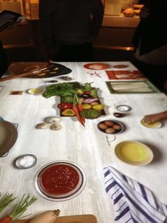 Interactive projected table at Our Global Kitchen at the American ...
