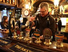 Enjoy a fantastic pint at one of Nidderdale's cosy pubs. Photo: Theakston Brewer/Jane Dunford