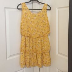 Floral Print Dress 3 layered short sundress. Very comfortable and very bright cheerful color. No trades please. Offers welcome. Forever 21 Dresses