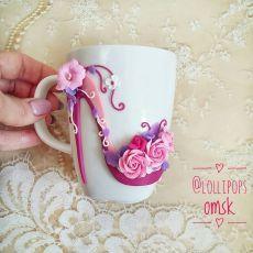 Polymer Clay Christmas, Cute Polymer Clay, Polymer Clay Charms, Polymer Clay Jewelry, Clay Jar, Clay Mugs, Decorated Wine Glasses, Kawaii Diy, Mug Art