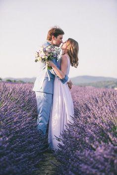Amazing Lavender Fields Real Wedding