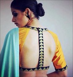 Blouse back neck designs are everything when it comes to picking a good blouse. Here are 40 latest blouse back neck designs that will inspire you to stitch the best blouse for your big day! Best Blouse Designs, Blouse Back Neck Designs, Saree Blouse Designs, Blouse Designs Latest 2017, Dress Designs, Sleeve Designs, High Neck Saree Blouse, Sexy Blouse, Saree Dress
