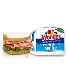 Wonder® Made with Whole Grain White bread. Soft and incredibly delicious, this Wonder bread is a good source of fiber and boasts some impressive nutrients, like eight essential vitamins and minerals and as much calcium as eight ounces of milk in just two slices.