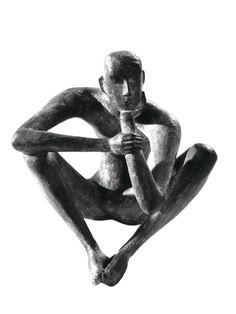 Karl-Heinz Krause, Kleiner Denker, 1959, Bronze