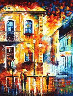 "Day Dream — PALETTE KNIFE Oil Painting On Canvas By Leonid Afremov - Size: 30"" x 40"" (75 cm x 100 cm)"