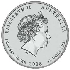 1/2 kilogram - Australian Silver Lunar Bullion Coin - Series II - Obverse Side