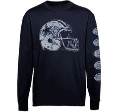 ceeb8ea67 Dallas Cowboys Helmet Championships Long Sleeve T Shirt