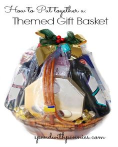 Themed gift basket ideas!  Great for a quick last minute gift!