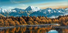 Lake Pukaki, Mackenzie Country, South Canterbury, New Zealand - NZ