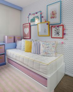 Big Girl Bedrooms, Girls Bedroom, Pastel Colors, Girl Room, Home Office, Toddler Bed, Projects, Inspiration, Furniture