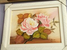 Rosas Frame, Home Decor, Oil On Canvas, Moldings, Roses, Flowers, Picture Frame, Decoration Home, Room Decor
