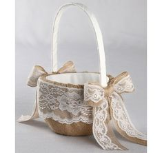 Country Romance Flower Basket