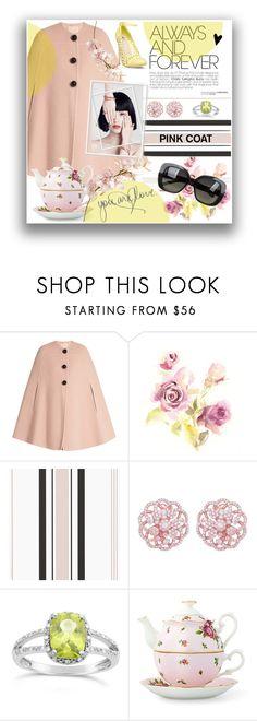 """Pink Coat Yellow Shoe"" by kimberwoo0397 ❤ liked on Polyvore featuring Roksanda, Emilio!, Royal Albert and Bottega Veneta"