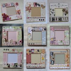 can use on those cheap frames from michaels Craft Stick Crafts, Craft Gifts, Diy Gifts, Diy And Crafts, Crafts For Kids, Paper Crafts, Marco Diy, Mirrored Picture Frames, Paper Collage Art