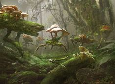 Once again Mr.Rigby leaves me dazed.  Magic The Gathering: Fungal Sprouting by *Cryptcrawler on deviantART
