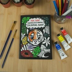Illustrated Endangered Animals Colouring Book// Children's Book