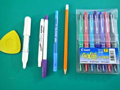 My favorite fabric marking tools - Frixion pens - So Sew Easy