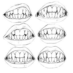"""uzlolzu: """"This is very old but I found it again and I still like it. Amazing. All my vampires have their own set of pointy teeth óuò. My babies. """""""