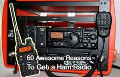 Reasons to Get a Ham Radio. Ham radios are one of the most reliable ways of using and operating radio frequencies. A safe way to communicate if SHTF Emergency Preparation, Survival Prepping, Emergency Preparedness, Survival Skills, Survival Shelter, Homestead Survival, Survival Stuff, Radios, Ham Radio Antenna
