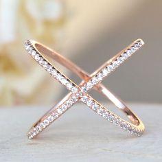 X Ring - Rose Gold