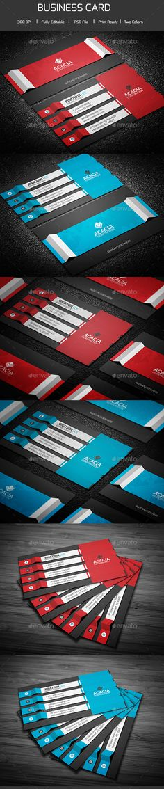 Modern Business Card Template PSD #design Download: http://graphicriver.net/item/modern-business-card/13924187?ref=ksioks
