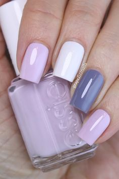 Hiya Dolls! I picked up Essie Go Ginza the other day (she's been on my wishlist for quite a while) and I knew I wanted to do a skittle mani using it. I paired it with Essie Petal Pushers and Private
