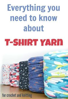 T-shirt yarns, in bright and bold colors, neutrals and interesting prints.  For knitting, crochet and other crafts.  Fun to work with, t-shirt yarns.